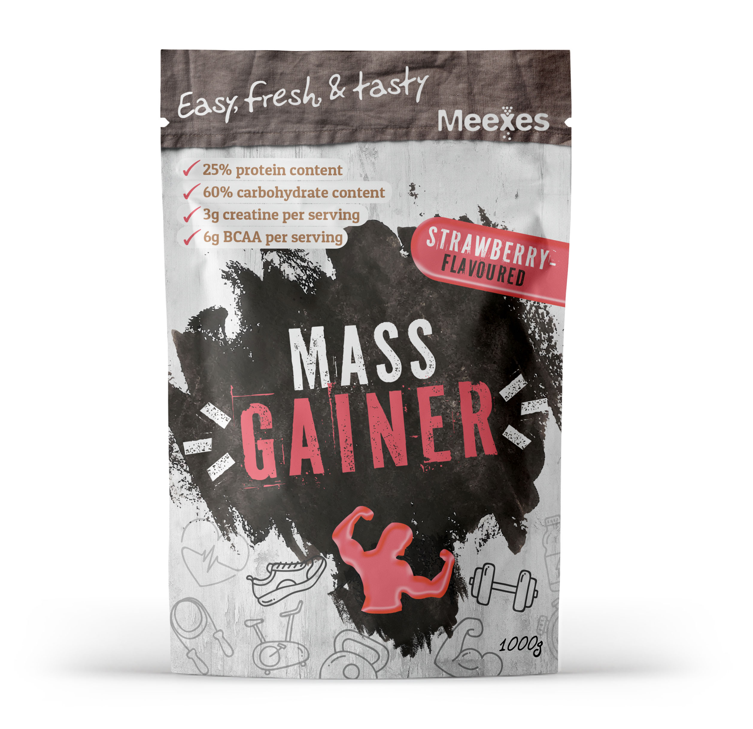 meexes MASS GAINERS strawberry 70x110